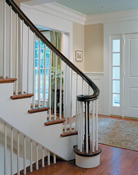 Stair millwork, Bradley Boulevard Residence