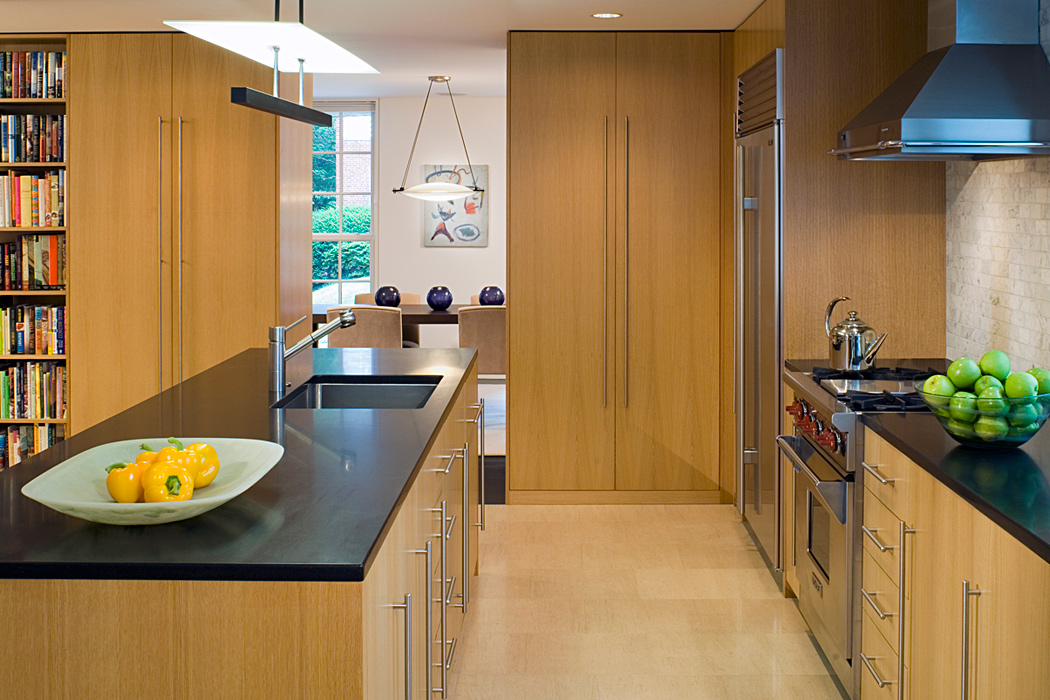 Kitchen, Quincy Street Residence, Custom home by Peterson and Collins Builders