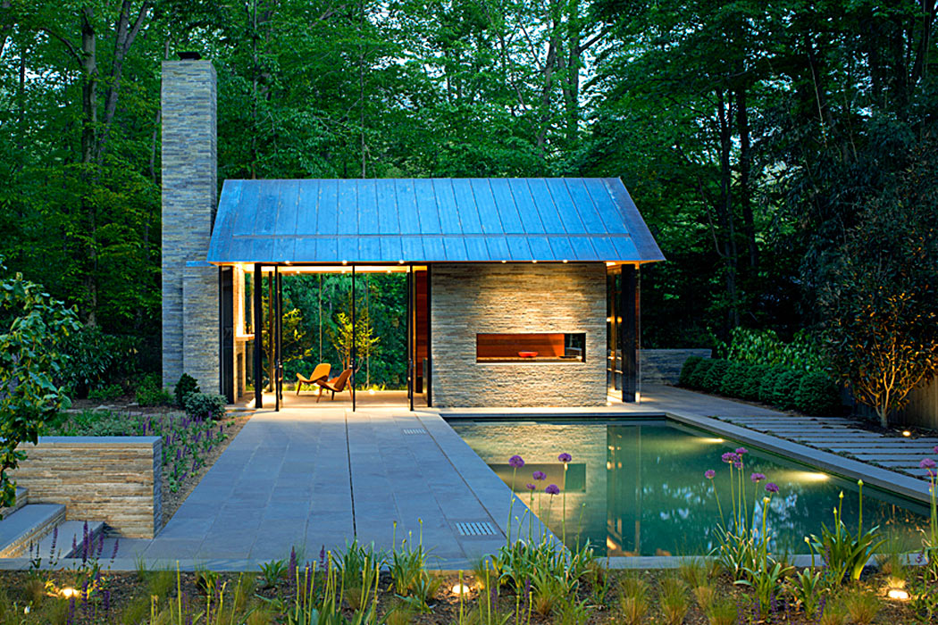 Private Pool & Pavillion by Peterson and Collins Builders