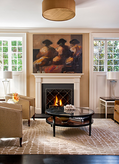 Fireplace, Cleveland Park Residence, built by Peterson and Collins Builders