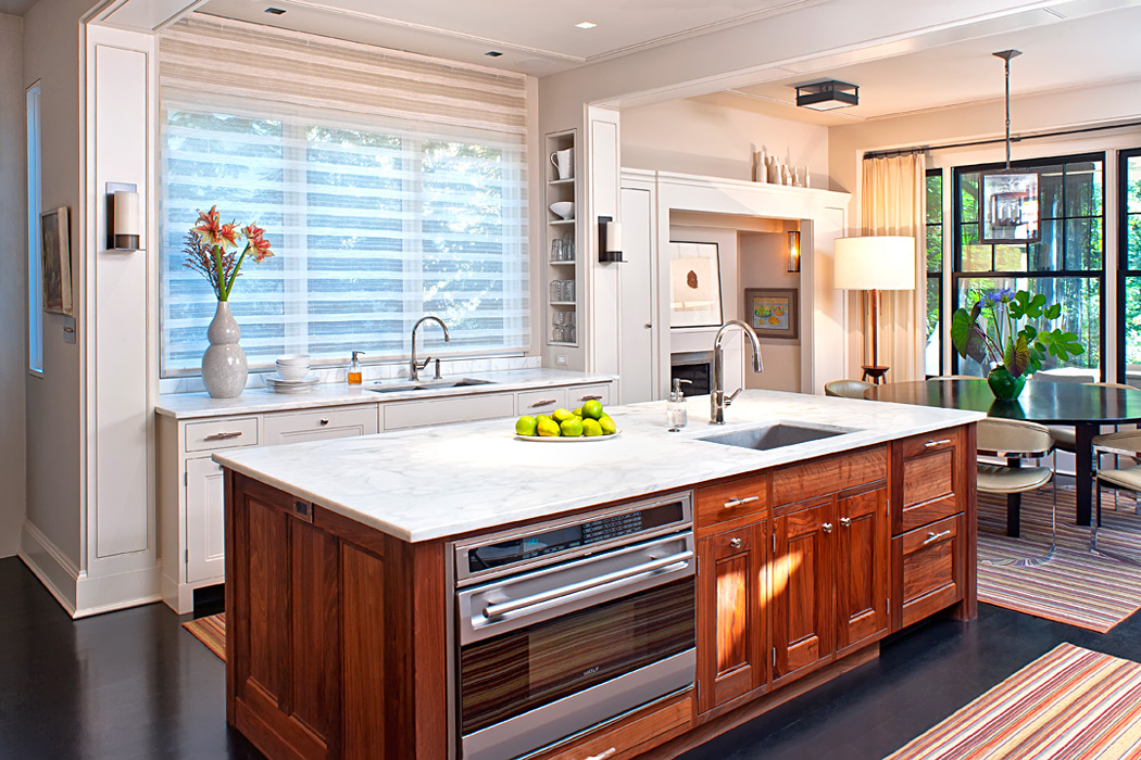 Kitchen, Cleveland Park Residence, built by Peterson and Collins Builders