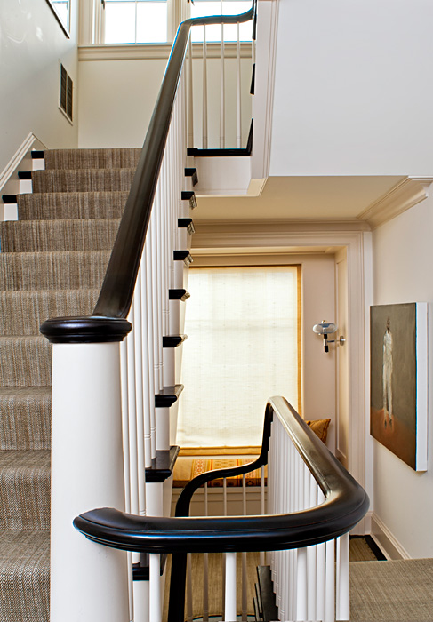 Staircase, Cleveland Park Residence, built by Peterson and Collins Builders