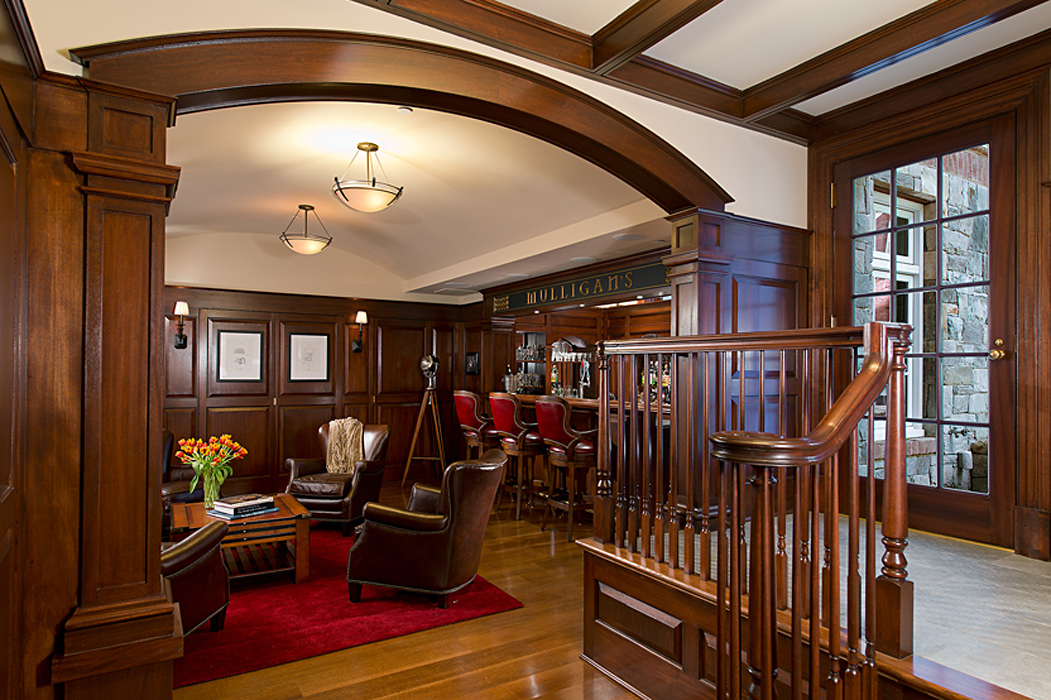Custom Millwork in Wesley Heights Residence, built by Peterson and Collins