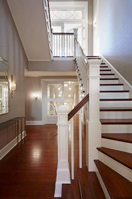Stair Millwork, Halcyon House Restoration excuted by Peterson & Collins