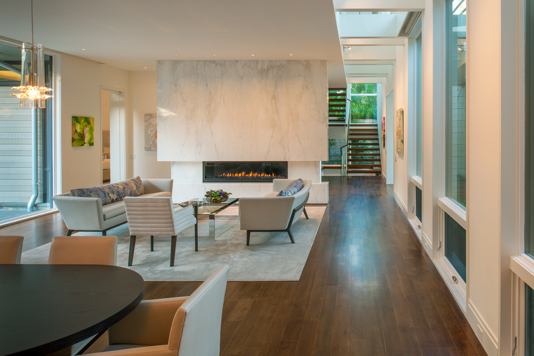 Interior living space, Edgemoor Residence, Custom Home by Peterson and Collins Builders