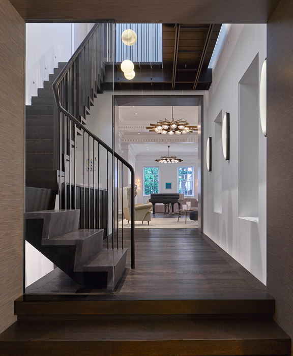 Foyer and stairs, Cox Row Residence, Peterson + Collins Builders
