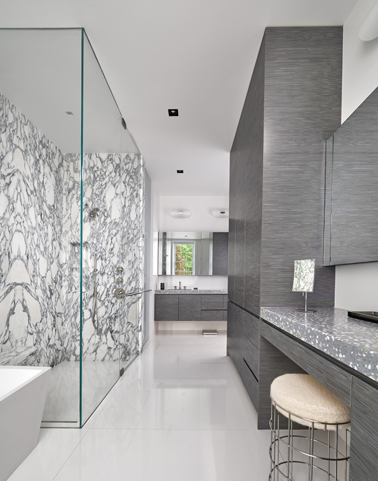 Master bath, Cox Row Residence, Peterson + Collins Builders