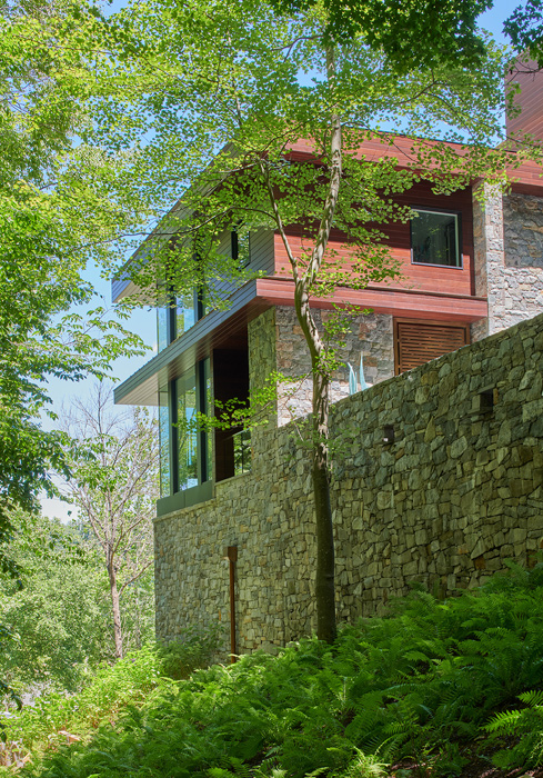 Stone walls, , Potomac Overlook Residence, built by Peterson and Collins