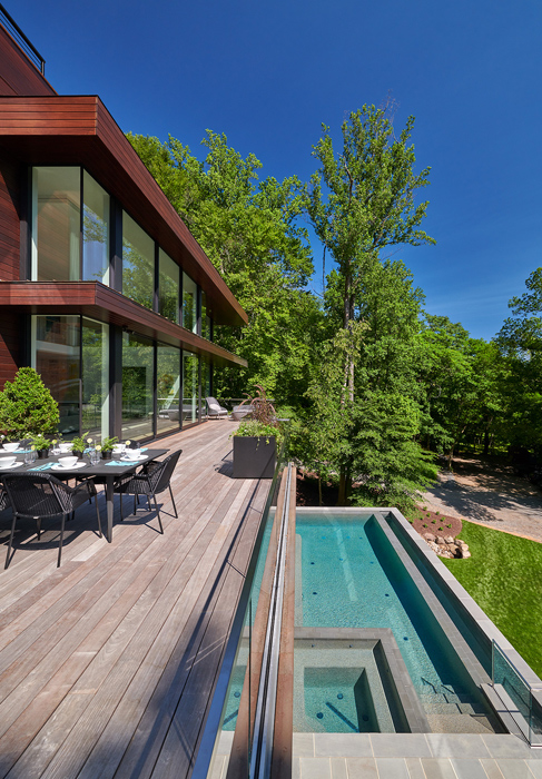 Deck and pool, , Potomac Overlook Residence, built by Peterson and Collins