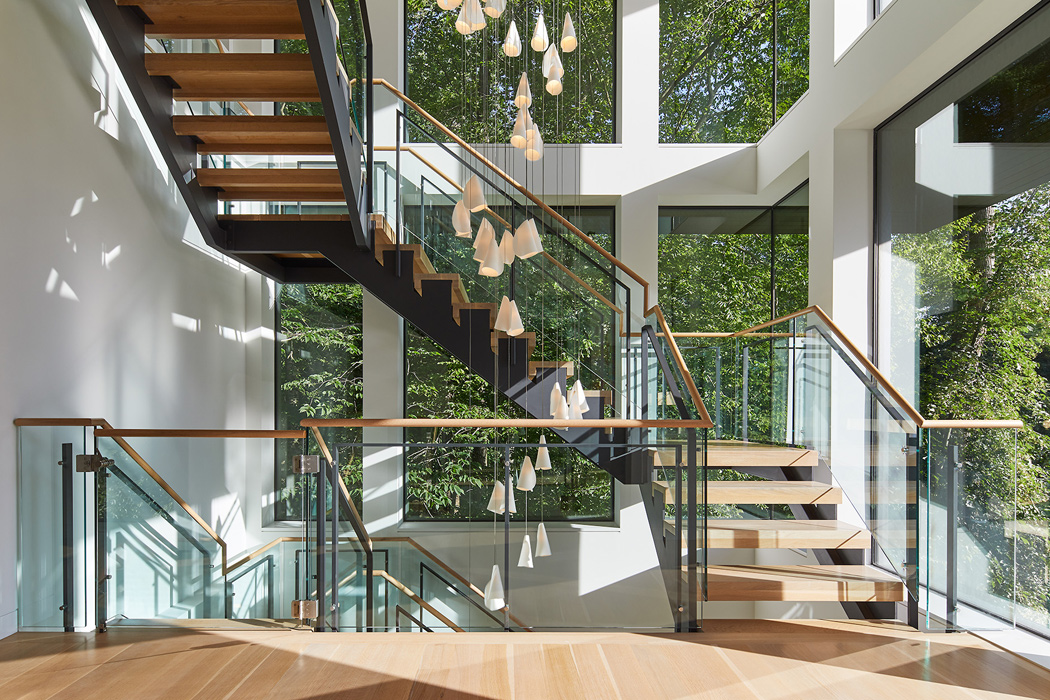 Interior Staircase, , Potomac Overlook Residence, built by Peterson and Collins