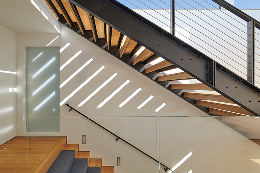 Stairs, Modern Chevy Chase Residence by Peterson and Collins Builders