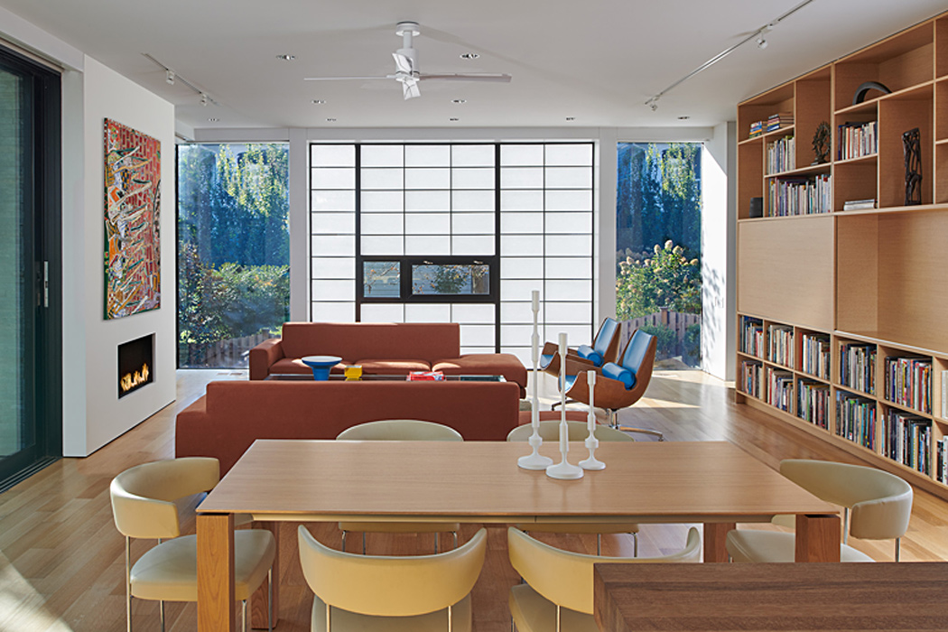 Living Room, Modern Chevy Chase Residence by Peterson and Collins Builders