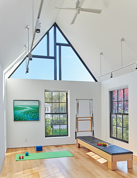 Skylights, Modern Chevy Chase Residence by Peterson and Collins Builders