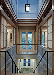 Second floor atrium. Award winning project from Peterson & Collins
