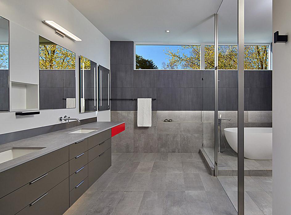 Custom Master Bath built by Peterson + Collins