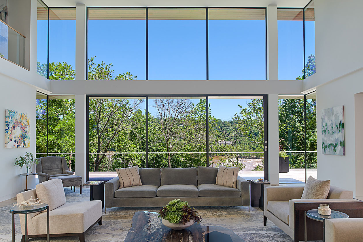 Panoramic windows in new custom built home
