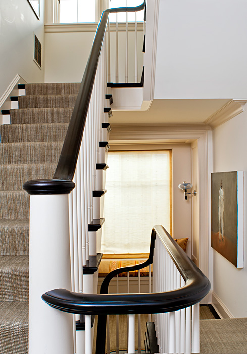 Custom Millwork, staircase, balusters and banister