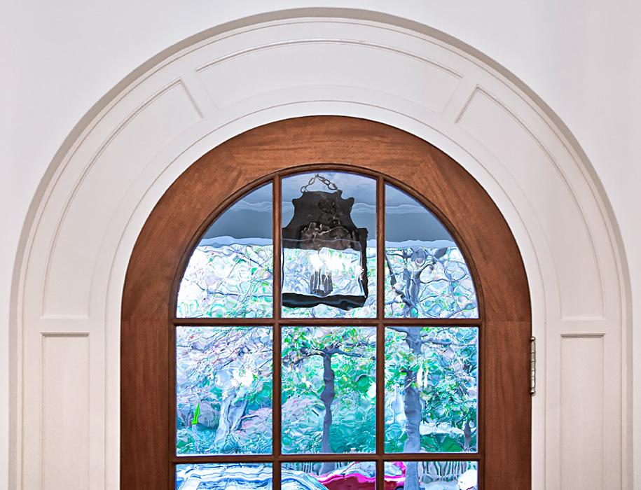 Custom Millwork, rounded door frame