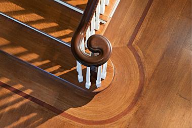 Stair banister customer millwork