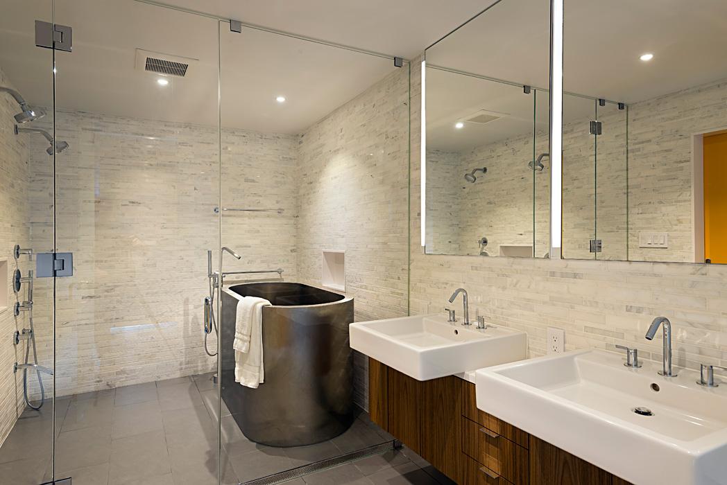 Alexandria Riverwalk Custom Home Master Bath